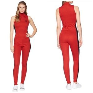 🆕 PUMA HIGH RISK RED BLACK T7 JUMPSUIT SZ XL NWT